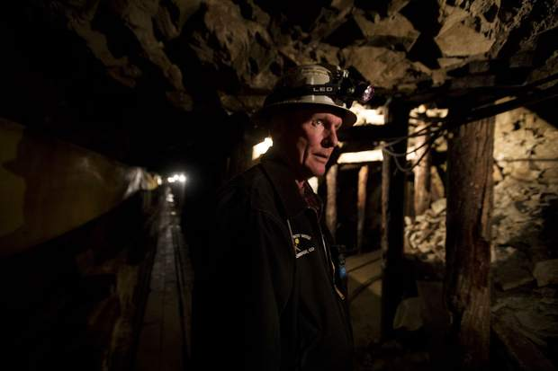 Country Boy Mine guide Paul Hintgen leads a tour inside the mine Wednesday, April 3, near Breckenridge.