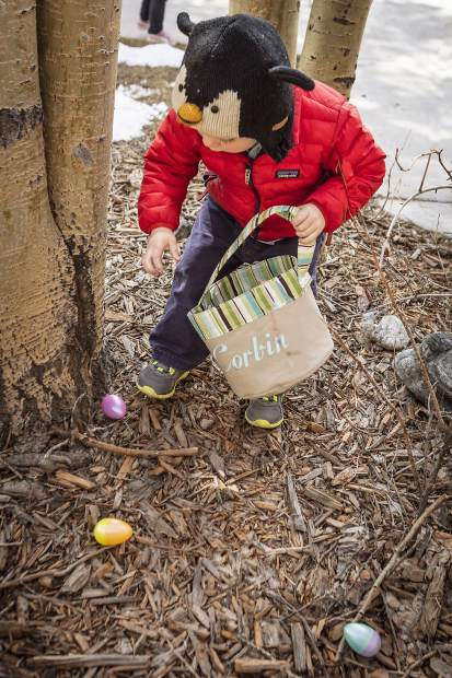 A child searches for eggs during the annual hunt in Frisco. Roughly 5,000 eggs will be hidden.