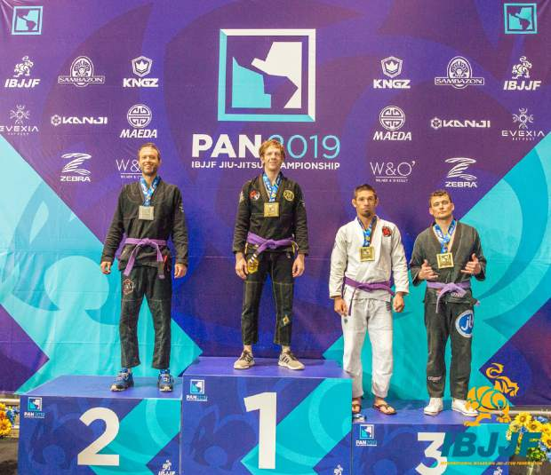 Last month, Douglas Owens (left) took second-place in the men's purple belt, middleweight competition at the 2019 Pan American Jiu-Jitsu Championships in Irvine, California