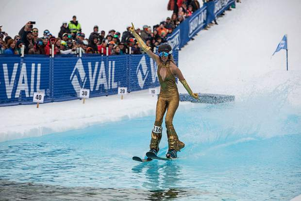Had Hall not stolen the show, former World Cup ski cross racer Langely McNeal would have been far and away the most decorated snowsports athlete at Vail's World Pond Skimming Championships on Sunday. McNeal is a former World Cup ski cross competitor who also competed in X Games during her career, which spanned from 2008 to 2013. McNeal won the First-Place Female award.