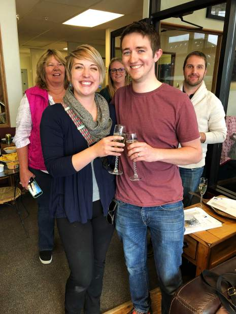 After finalizing the sale last Friday, Roger and KelLee Abdella toast being the first new homeowners to close on a new home at Smith Ranch in Silverthorne. The first phase of the town's workforce housing project is starting to come to fruition, and developers have set their sights on producing 51 more townhomes for the second phase.