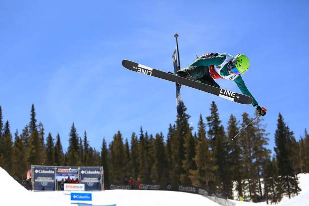 A freesker rises above the halfpipe during competition at this week's USASA National Championships at Copper Mountain Resort.