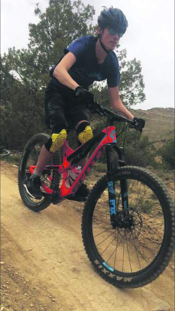 Scott Mercier and his son took to the trails around Grand Junction for some mountain biking this spring.