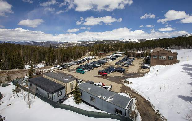 Future site of the hotel at the Peak 8 base area of Breckenridge Ski Resort seen on May 2, in Breckenridge.