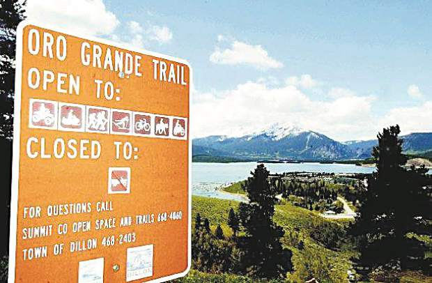 The Oro Grande trail is shared by many recreationalists and offers outstanding views of Dillon Reservoir, the Tenmile and Gore Ranges. The Oro Grande is one of the few single-track trails dry enough to use early in the summer.