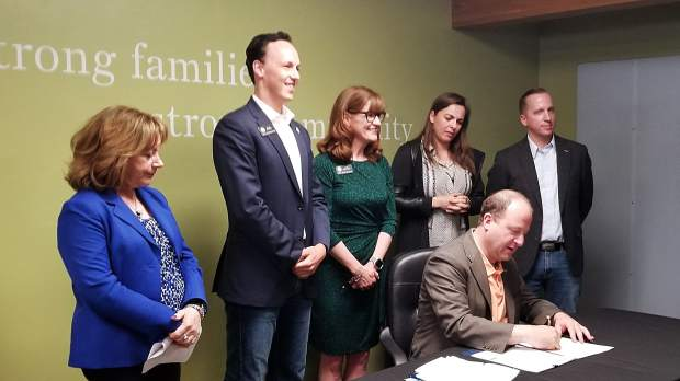 In Silverthorne, Gov. Jared Polis signs two major health care bills into law
