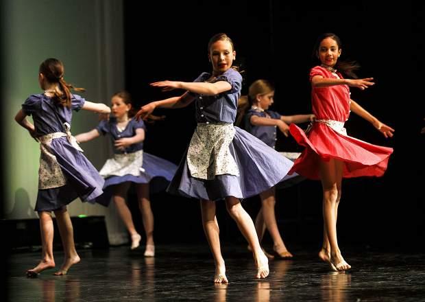 Performers in the 2nd Annual Spring into Dance rehearse Friday, May 10, at Summit High School near Frisco. The annual end of the year recital for Summit School of Dance will have showings today at 2 p.m. and 6 p.m. inside the school's auditorium.