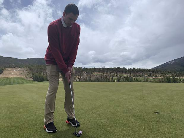 Mitchell Lince putts on the 18th green at The River Course at Keystone Resort during the course's opening day for the 2019 season on Friday. Keystone plans to open its 18-hole Ranch Course on Friday, May 24.