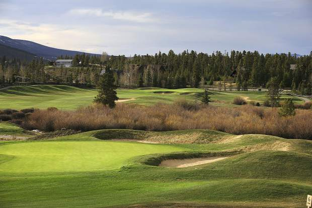A portion of Breckenridge Golf Club is seen on the evening of Thursday, May 16, in Breckenridge. The club will open 18 of its 27 holes for the season on Friday, May 24, with plans to open the remainder the following weekend.