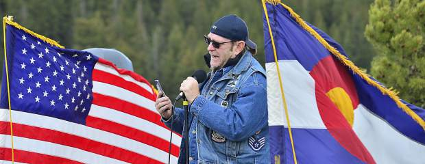 """Veteran Don Karpowich promises to remember """"his teammates"""" during Monday's Memorial Day ceremonies at Dillon Cemetery."""