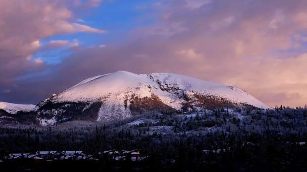 Buffalo Mountain at sunrise.