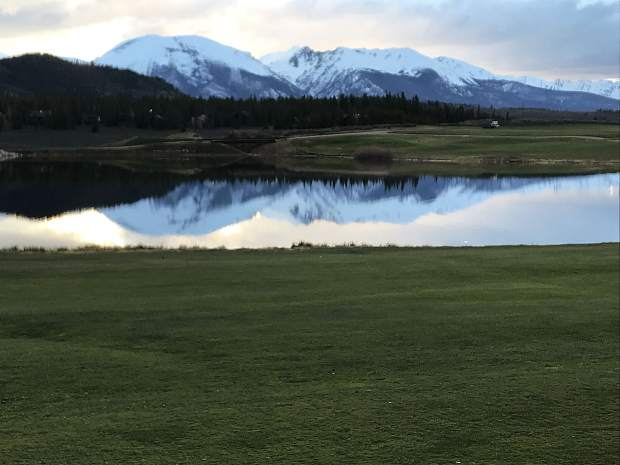 Sunset On Opening Day At Keystone Ranch Golf Course.