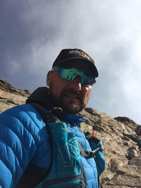 Michal Ovsjannikov, shown here on the Tenmile Traverse, fell about 60 feet down the mountainside after summiting Peak 2 along the traverse last summer. He's now training for high-elevation races again, inlcuding one he plans to run later this year with his 26-year-old daughter.
