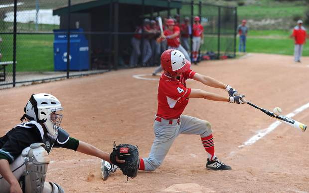 The Summit High School varsity baseball team and the Steamboat Springs High School team split a pair of games on Tuesday that comprised a season-closing doubleheader for the young Tigers squad.