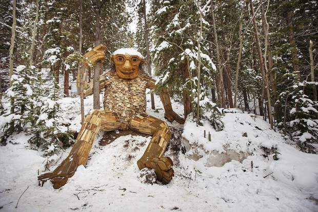 Isak Heartstone sits in his new home off the Illinois Gulch trailhead, Friday, May 10, in Breckenridge.