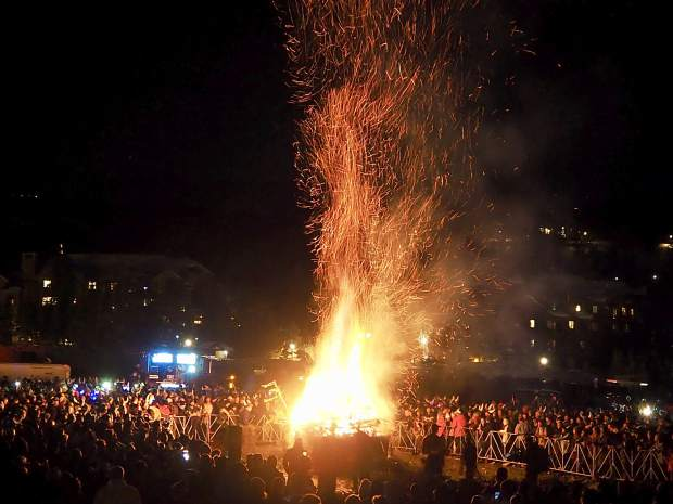 Flames from the Ullr Fest bonfire raged high into the sky during the last Ullr Fest celebration in January. The annual festival paying tribute to the Norse god of snow has been moved to December.