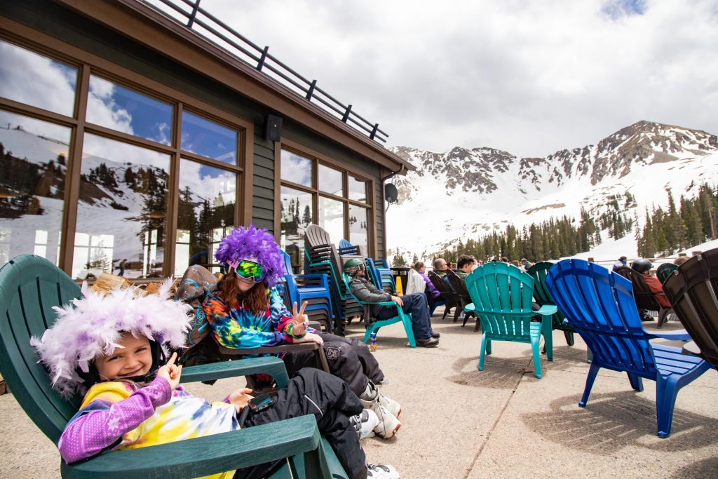 The view from lounging at mid-mountain while summer skiing and riding at Arapahoe Basin Ski Area last weekend.