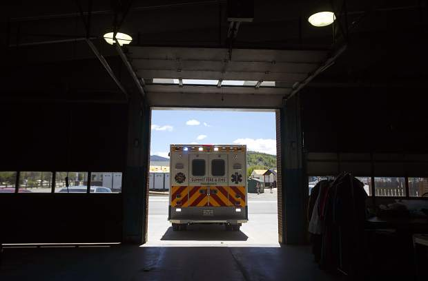 Summit Fire and EMS ambulance enters Station 10 Wednesday, June 12, in Silverthorne.