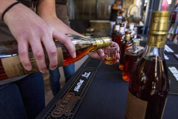 The Jim Beam Bourbon Tour features over 15 different brands, including some from Colorado, for tasting at the Bacon and Bourbon Festival in Keystone.