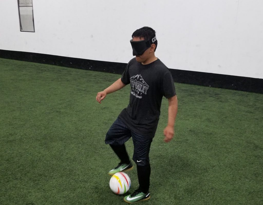 Will Lewis, 20, of Dillon is attending a camp in Utah this weekend to learn more about the sport of blind soccer with the hopes of creating a community of blind soccer in Colorado.