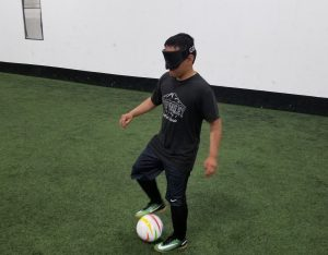 Former Colombian foster child Will Lewis of Dillon won't let blindness keep him from his love for soccer