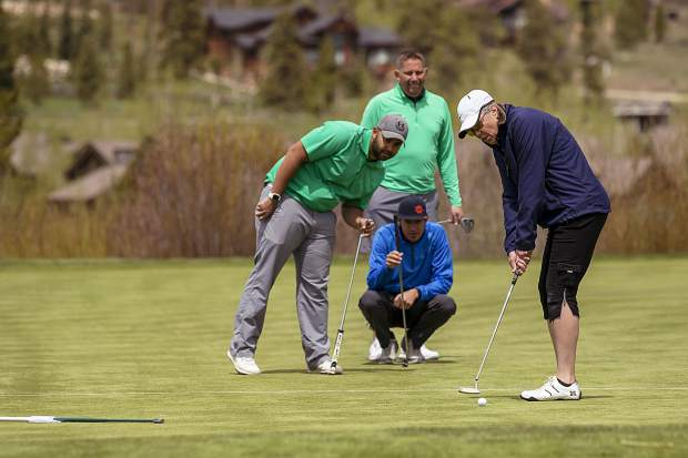 Golfers watch a putt during last weekend's Breckenridge Grand Vacations Annual Golf Tournament to benefit The Summit Foundation.