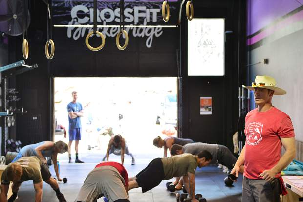 David Scott Ferguson's best friend, Dave Walker, leads a workout in Ferguson's honor on June 1 at CrossFit Breckenridge. Ferguson, who founded the gym, died on April 22 from skin cancer. During his treatment, he developed a close relationship with the nurses who took care of him, and a scholarship fund for nursing students has been established at his request.