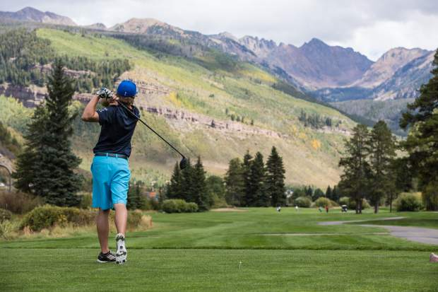 Vail Golf Club offers a mountain-style 18-hole course surrounded by national forest.