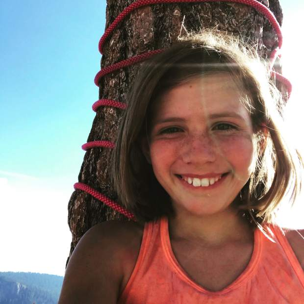 Selah Schneiter shot this selfie after completing the climb of El Capitan Wednesday.