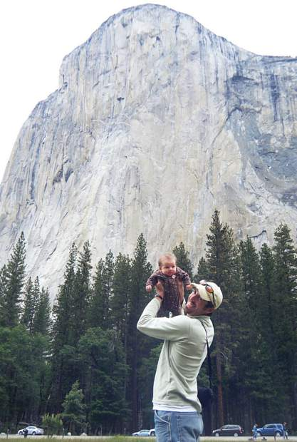Selah Schneiter on her first visit to the Yosemite Valley at 8 weeks old.