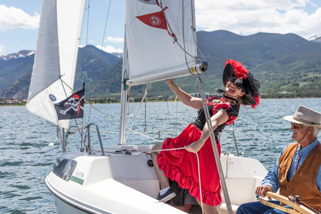 A costumed sailor poses for a photo during a past Timberline Cruiser Regatta on Lake Dillon in Frisco.