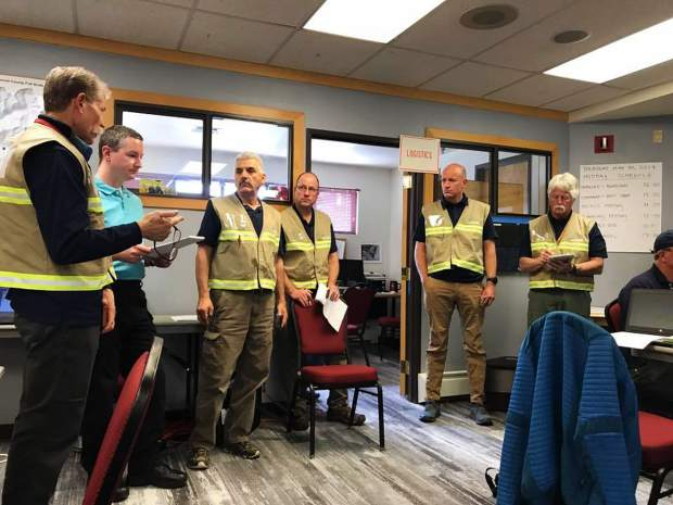 Emergency responders from local, state and federal agencies work together during the county's full-scale emergency exercise on Thursday, May 30.