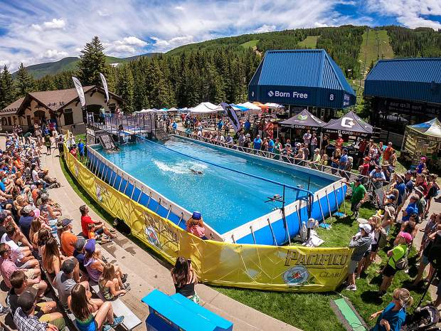 The DockDogs events at Go RVing DogTown in Lionshead are a big hit each year at the GoPro Mountain Games. We recommend starting – or ending – your daytime GoPro Mountain Games experience at this venue, then head to the free concerts at the Gerald R. Ford Amphitheater.