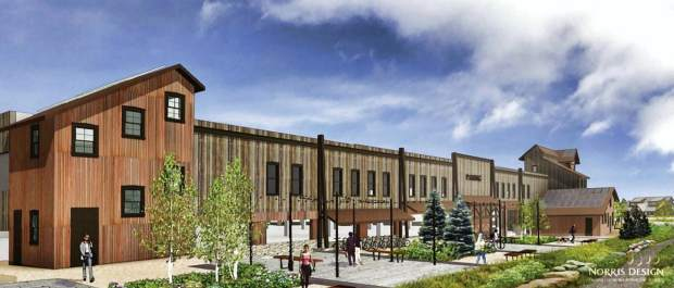 This conceptual rendering shows how a new parking garage on the South Gondola Lot in downtown Breckenridge could look once it's built. The town is working to design a new parking structure in hopes of having it complete by November 2021.