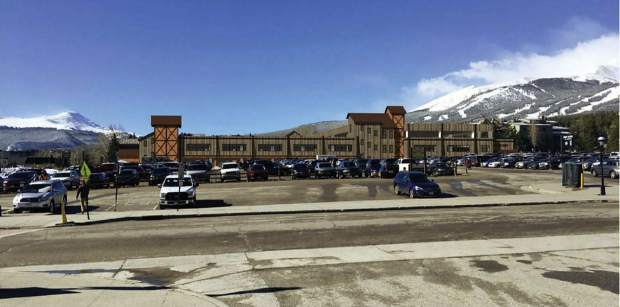 This conceptual rendering shows how a new parking garage on the South Gondola Lot in downtown Breckenridge could look from the gondola. The town is pursuing plans to build a large parking structure on the existing surface parking lot after securing a long-term lease with Vail Resorts, owner of Breckenridge Ski Resort and the South Gondola Lot.