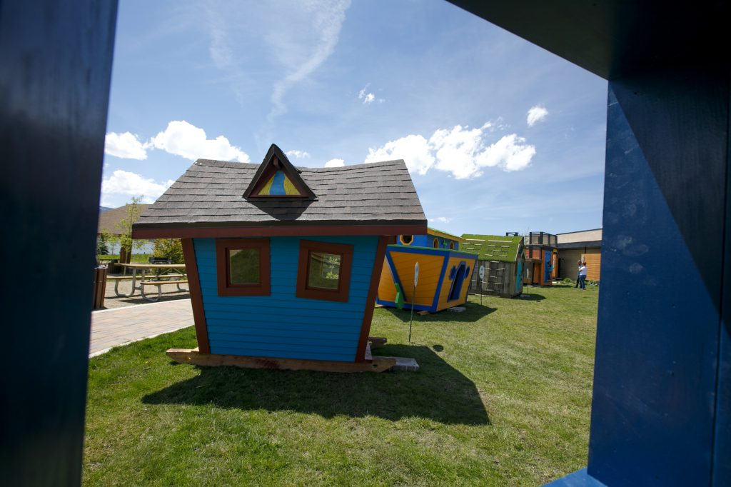 A playhouse built by MW Golden Constructors sits at Marina Park in Dillon on Thursday, June 27.