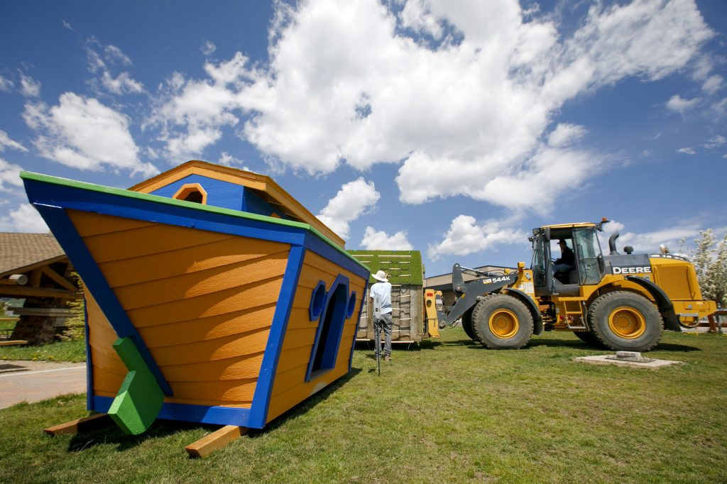 Custom children's playhouses on display in Dillon to raise money for affordable housing
