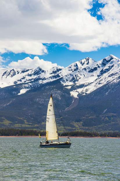 Sailing on Lake Dillon.