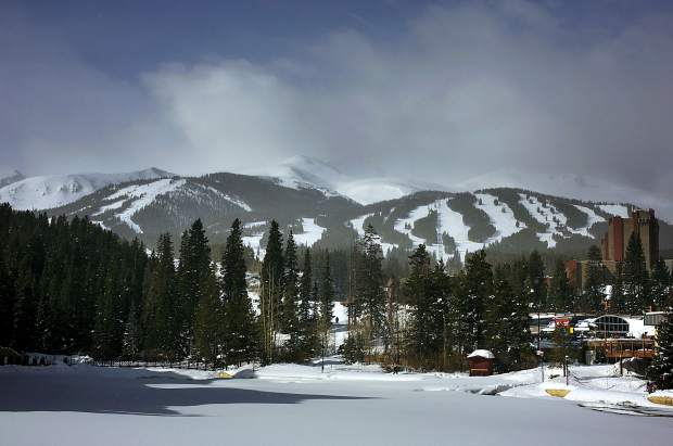 Clouds cross over the high alpine area of Breckenridge Ski Resort on Wednesday, March 6. This winter's strong snowfall has been credited for boosting sales across Summit County, and the March sales tax reports from Breckenridge, Dillon and Frisco show significant growth in those towns compared to March 2018.