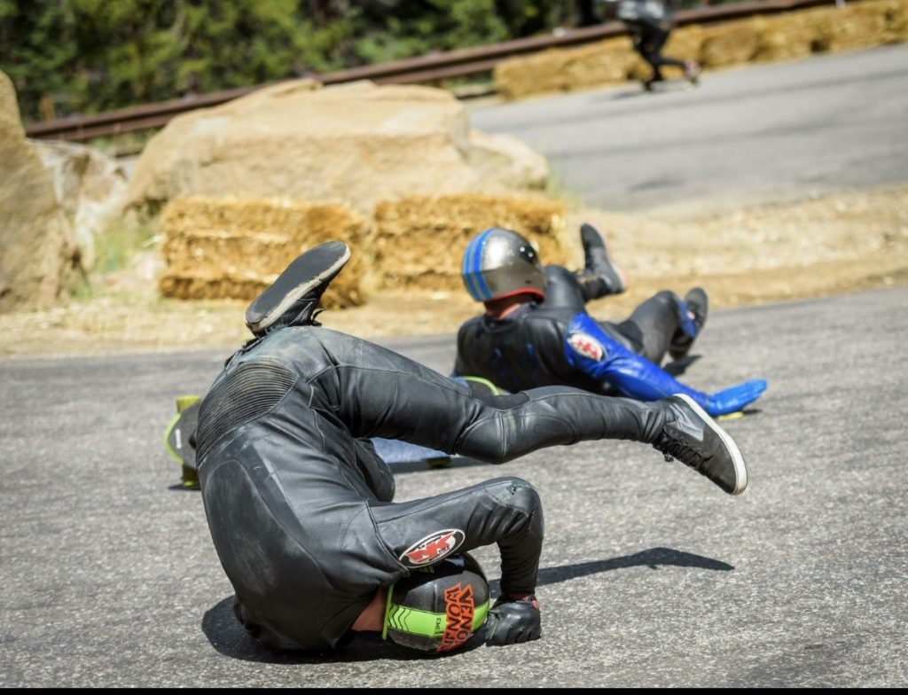 Wisconsin native and Breckenridge resident Troy Westbrook took this nasty spill that dislocated his shoulder while racing in the Devil's Peak Downhill sanctioned downhill-skateboarding event last summer at Guanella Pass in Georgetown.