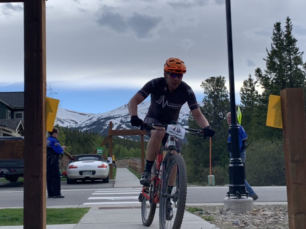 Adam Loomis of Breckenridge pedals during Wednesday's second Summit Mountain Challenge event of the season, the Gold Run Rush, which took place in the Wellington and Lincoln Park neighborhoods of Breckenridge. Loomis finished in second place in the expert men 40-49 division with a time of 1:15:44.