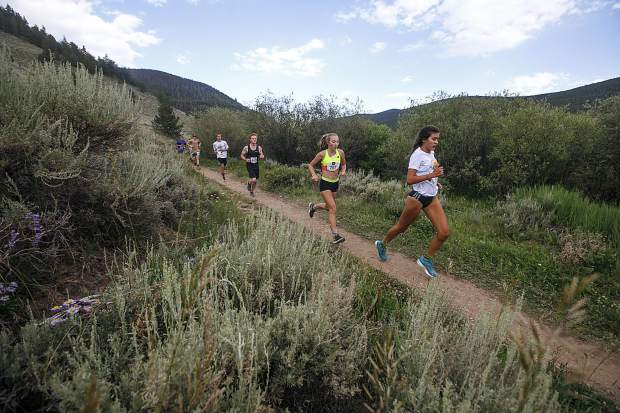 Runners participate in the Summit Trail Running Series event at Horseshoe Gulch in July 2018 near Breckenridge. The 2019 series commences Wednesday.