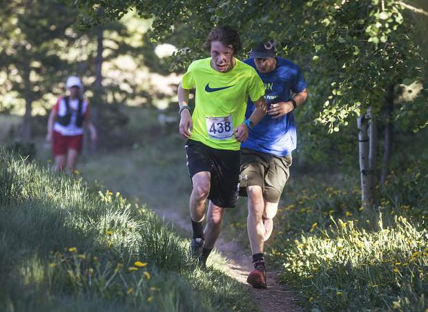 Runners in the Summit Trail Running Series take part in the first race of the summer of 2018 near the Breckenridge Recreation Center. The 2019 series will begin on Wednesday with the Breckenridge Recreation Center Morning Thunder 5K/8K.
