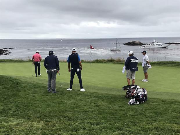U.S. Open sights as seen from the vantage point of Breckenridge Golf Club pro Erroll Miller at this past weekend's U.S. Open at Pebble Beach Golf Course on the California coast.