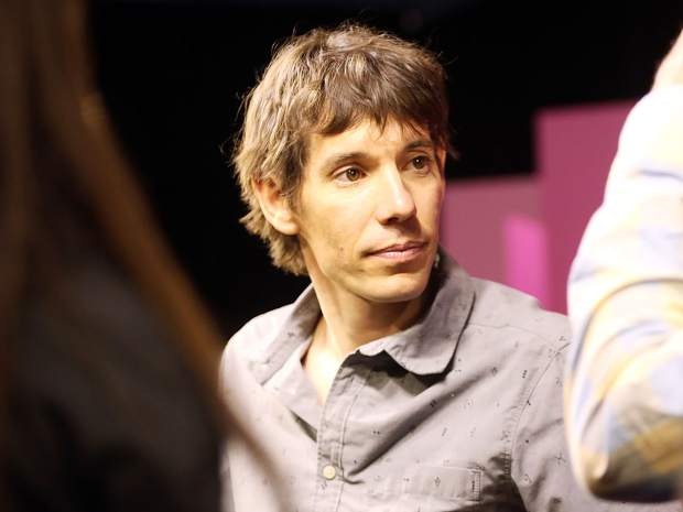 Climber Alex Honnold meets with fans after talking during an Aspen Ideas Festival discussion on Monday inside the St. Regis hotel in Aspen.