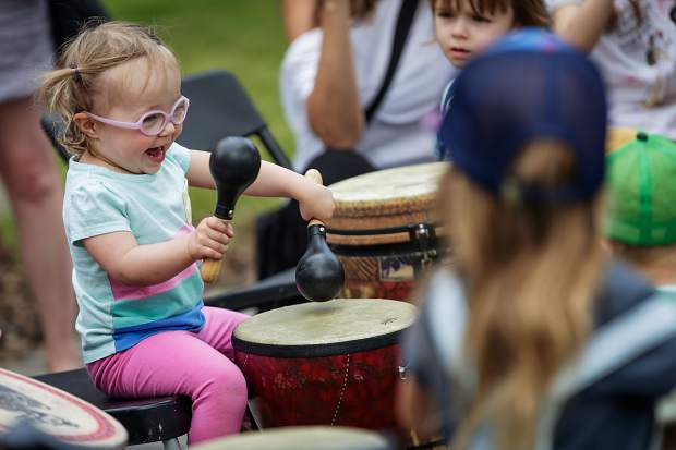 The second annual KidsFest has a variety of activities — such as a collaborative collage, drum circle and instrument petting zoo — for children to do during the first day of the Breckenridge Music Festival.