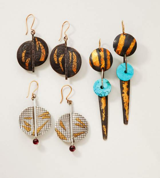 Exquisite jewelry -- such as these handcrafted, natural stone and mineral earrings from Eger and Eaton in New Mexico -- will be on-site at the fourth annual Keystone River Run Village Art Festival on July 27 and 28.
