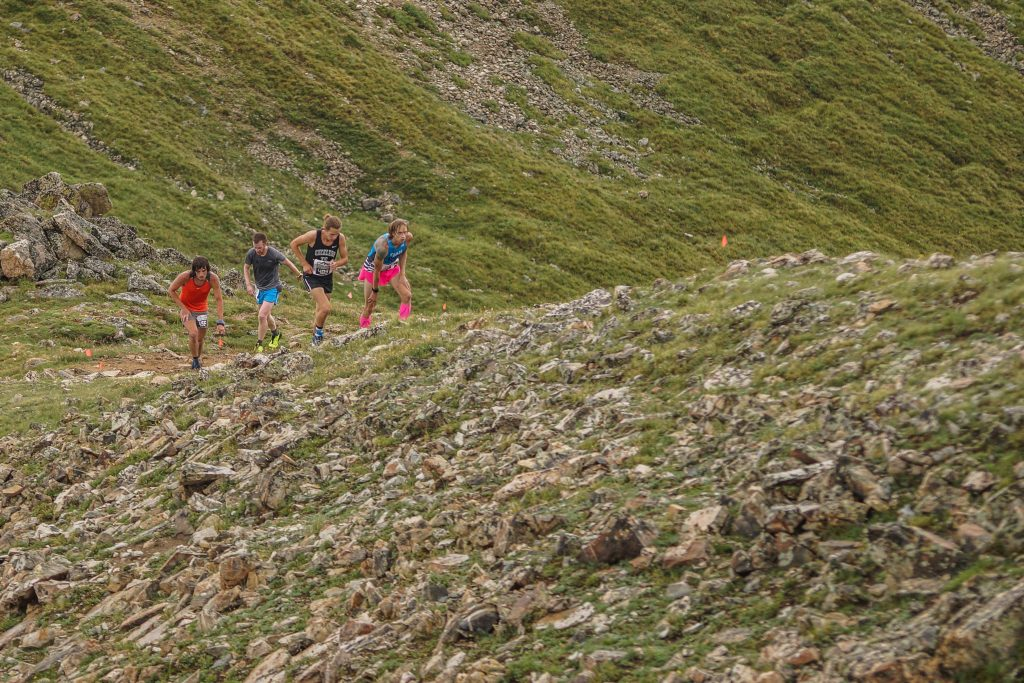 Mountain runners push up the rocky high-alpine terrain at Arapahoe Basin Ski Area during last summer's Cirque Series event at the ski area. The mountain running event will return to the ski area for the third year in a row on Aug. 10.
