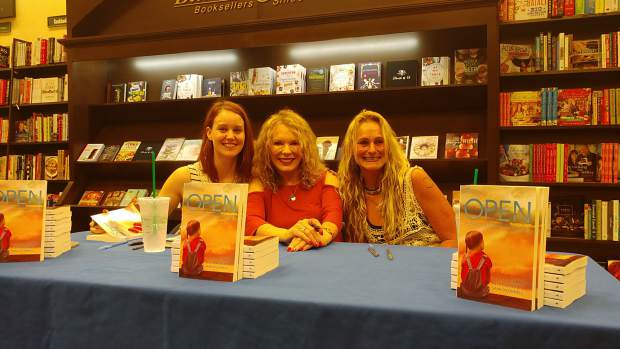 From left, Mollie Mish, Marlene Wagener and Tina Zimmermann in Medford, Oregon, at a book signing for their memoir