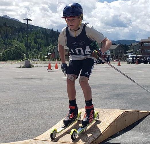 James Sowers races on the agility course during Saturday's Summit Roller Ski Festival in Breckenridge.